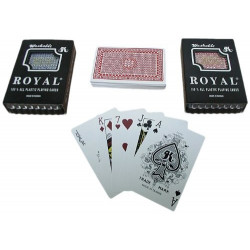 Royal 100% Plastic Washable Playing Cards, Two Decks