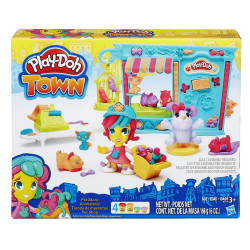 Hasbro Play-Doh Town Pet Store Animal Shop Modeling Clay Compound Playset