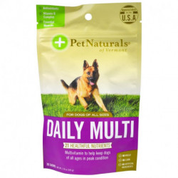 Pet Naturals of Vermont, Daily Multi, For Dogs, 30 Chews, 3.70 oz (105 g)