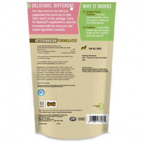 et Naturals of Vermont, Daily Probiotic, For Dogs of All Sizes, 60 Chews, 2.55 oz (72 g)