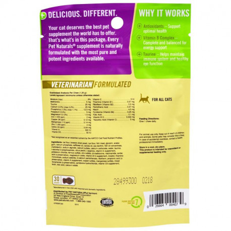 Pet Naturals of Vermont Daily Multi For Cats 30 Chews 1.32 oz (37.5 g)