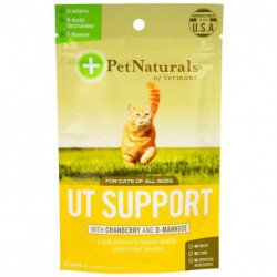 Pet Naturals of Vermont, UT Support with Cranberry and D-Mannose, For Cats, 60 Chews, 2.65 oz (75 g)