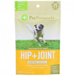 Pet Naturals of Vermont, Hip + Joint, For Dogs All Sizes, 60 Chews, 3.17 oz (90 g)