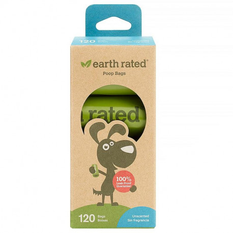 Earth Rated Dog Waste Bags Unscented 120 Bags 8 Refill Rolls