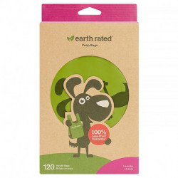 Earth Rated, Handle Bags, Dog Waste Bags, Lavender Scented, 120 Bags