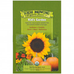 High Mowing Organic Seeds, Kid's Garden Organic Seed Collection, Variety Pack, 5 Packets