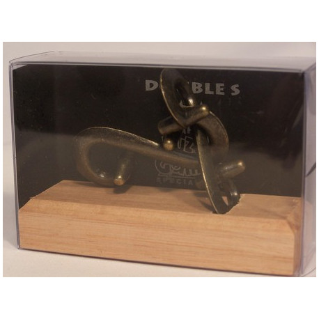 Colonial Classics Metal Wood Base - Puzzle, Double S, Wood Base