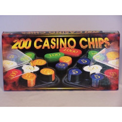 Casino Chips & Accessories - Casino Chips,Plastic box, Numbered, 200 Pieces