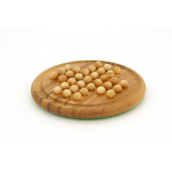 Solitaire Round Board with Wood Balls 8.5 diameter
