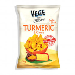 Vege Chips Deli Crisp Turmeric & Cheese 100g EACH (Carton - 5 * 100g) ***New***