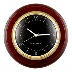 Del Milan Clock - Mahogany Finish