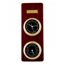 Del Milan 2 in 1 Wall clock and Tide clock - Mahogany Finish