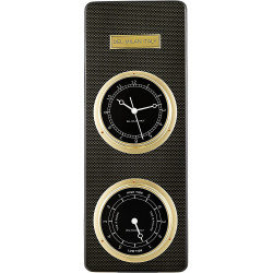 Del Milan 2 in 1 Wall clock and Tide clock - Carbon Fibre finish