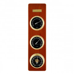 Del Milan 3 in 1 Weather station Barometer, Thermometer and Hygrometer- Teak