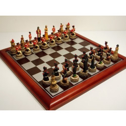 "Hand Paint Chess Set - ""Battle of Waterloo"" Theme with 75mm pieces, 45cm With Board"