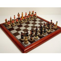 "Hand Painted Chess Set - ""Battle of Waterloo"" Theme with 75mm pieces, 45cm With Board"