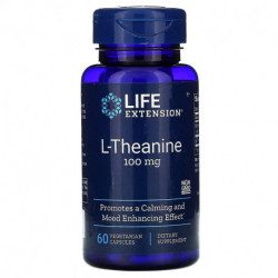 Life Extension L-Theanine 100 mg 60 Vegetarian Capsules