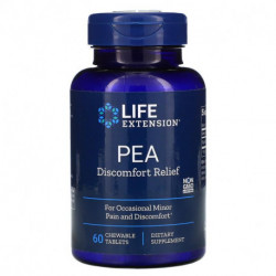 Life Extension PEA Discomfort Relief 60 Chewable Tablets