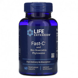 Life Extension Fast-C and Bio-Quercetin Phytosome 60 Vegetarian Tablets