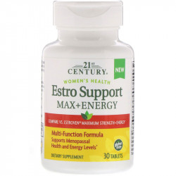21st Century, Estro Support Max + Energy, 30 Tablets