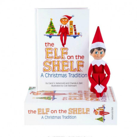 The Elf on the Shelf Hard Cover Book With Case - Boy Dark Skin