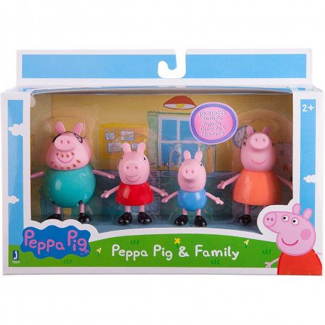 Peppa Pig Family & Friends 4 Pack Assorted