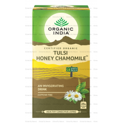 Organic India Tulsi Honey Chamomile x 25 Tea Bags (Carton - 6 Packets )