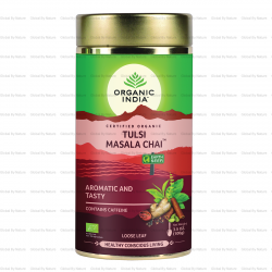Organic India Tulsi Chai Masala Loose Leaf 100g (Carton - 6 Tins)