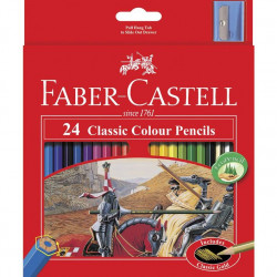 Faber-Castell Classic Coloured Pencils 24 Pack
