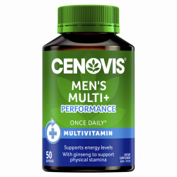 Cenovis Once Daily Mens Multi + Performance 50 Capsules