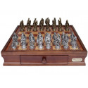 Dal Rossi Chess set, Mystical Dragon Chess Set, Pewter, 95mm on Dal Rossi 40cm