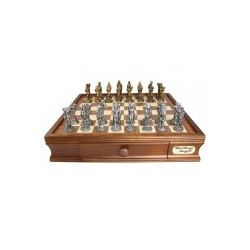 Dal Rossi Chess, Medieval Chess Set Pewter, 95mm