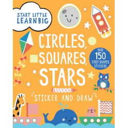Start Little Learn Big Circles, Squares, Stars Sticker and Draw