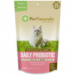 Pet Naturals of Vermont, Daily Probiotic, For Cats, 30 Chews, 1.27 oz (36 g)
