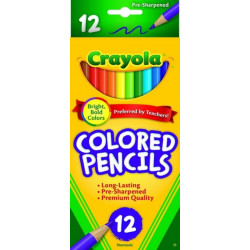 Crayola Colored Pencils 12 Pack ... Bright Bold Colors