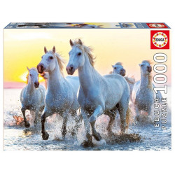 Educa Puzzle White Horses at Sunset 1000 Pieces