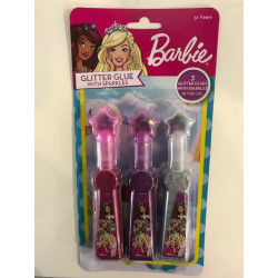 Barbie Glitter Glue with Sparkles in the Lid - 3 Pack
