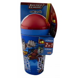 Justice League 10oz Zak Snak Tumbler