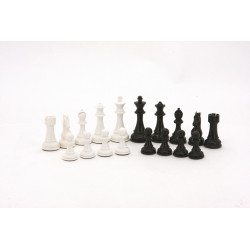 Dal Rossi Italy Black and White Weight pieces110mm Chess Pieces ONLY