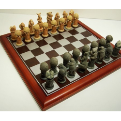 Hand Painted - Australiana Chess pieces 75mm pieces - Board Not Included