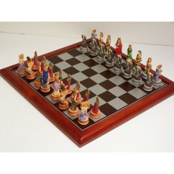 Hand Painted - Zodiac (StarSigns) Chess pieces 75mm pieces - Including L2199 Board 40cm