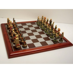 Hand Painted - Crusaders Chess Pieces 75mm Pieces - Board Not Included