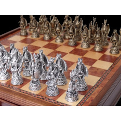 Dal Rossi Italy, Dragon, Pewter Chessmen ONLY - NO Board