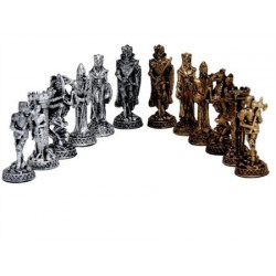 Dal Rossi Italy, Medieval Pewter Chess Pieces (PIECES ONLY)