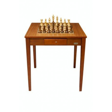 "Dal Rossi Italy Chess Table 28"" Including 150mm Weighted Chess Pieces"