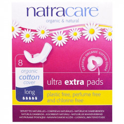 Natracare, Organic & Natural Ultra Extra Pads, Long, 8 Pads