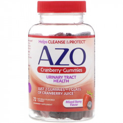 Azo, Cranberry Gummies, Mixed Berry Flavor, 72 Naturally Flavored Gummies