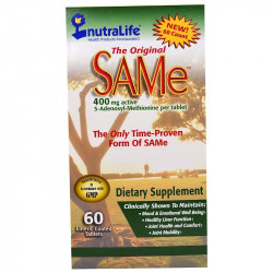 NutraLife, The Original SAMe (S-Adenosyl-L-Methionine) , 400 mg, 60 Enteric Coated Caplets