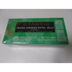 Peking Royal Jelly Ginseng ( ORGANIC) 3000 Green 30 X 10 ml Vials *HOT PRICE*
