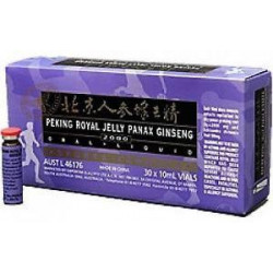 Organic Peking Ginseng Royal Jelly 4000 Purple 30 x 10 ml Vials *HOT PRICE*